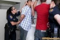 Femdom cfnm police officers taste cum