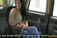 Brunette carmel gets tricked by the driver