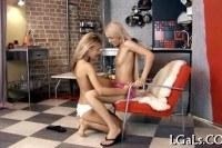 Hot girls strapon playing