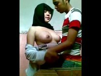 Couple fucking in school toilet