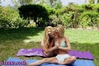 Bff newbie lesbians lick