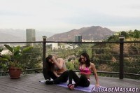 Lesbian babe nuru massage