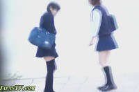 Japanese teenagers piss