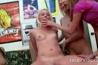 Blonde humps cock in sex contest