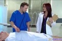 Doctor monique alexander seduces nurse into
